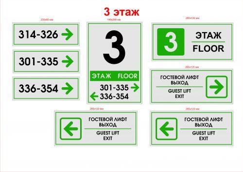 табличка указатель номеров