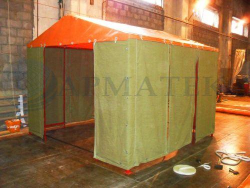 Палатка с брезентом