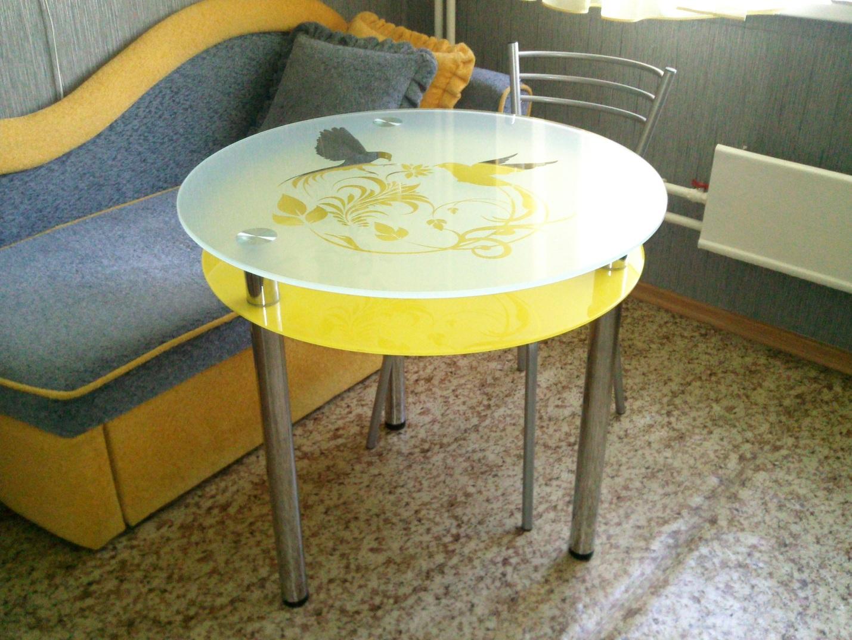 Стеклянные обеденные столы на заказ, столы для кухни из стек.