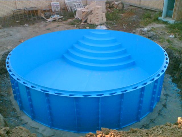 Пластиковый бассейн для дачи своими руками