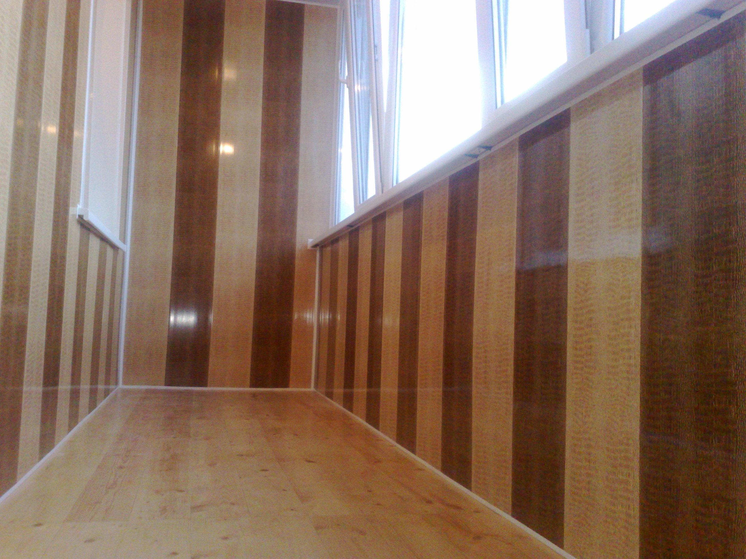 Ламинированные панели пвх для балкона..