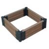 Комплект обрамления клумбы\грядки\песочницы из ДПК (в коробке: доска ДПК с