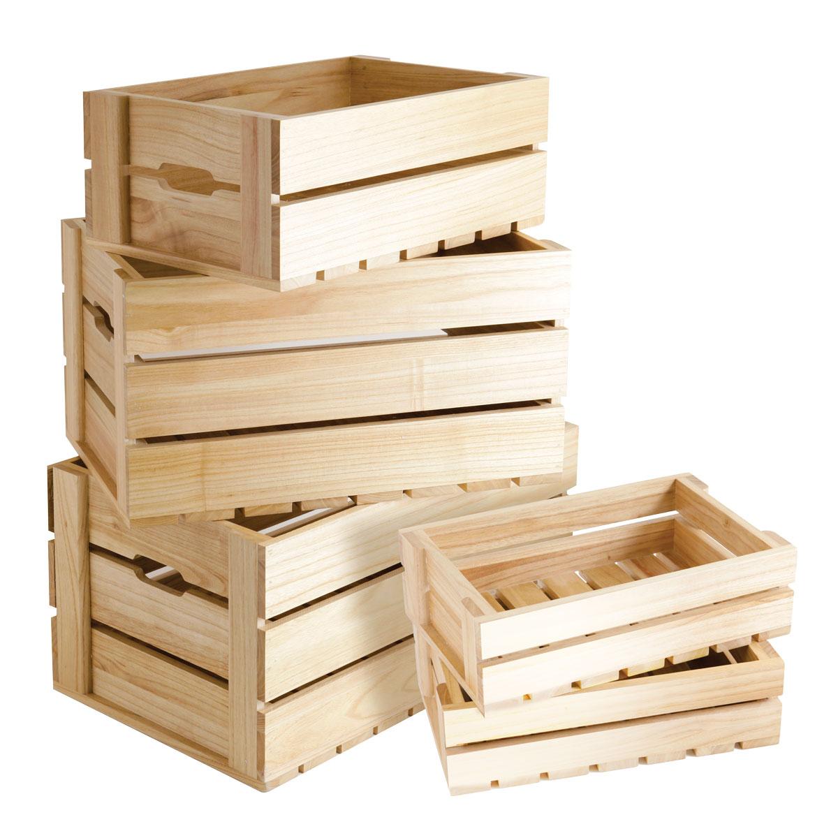 Ящик под овощи из дерева