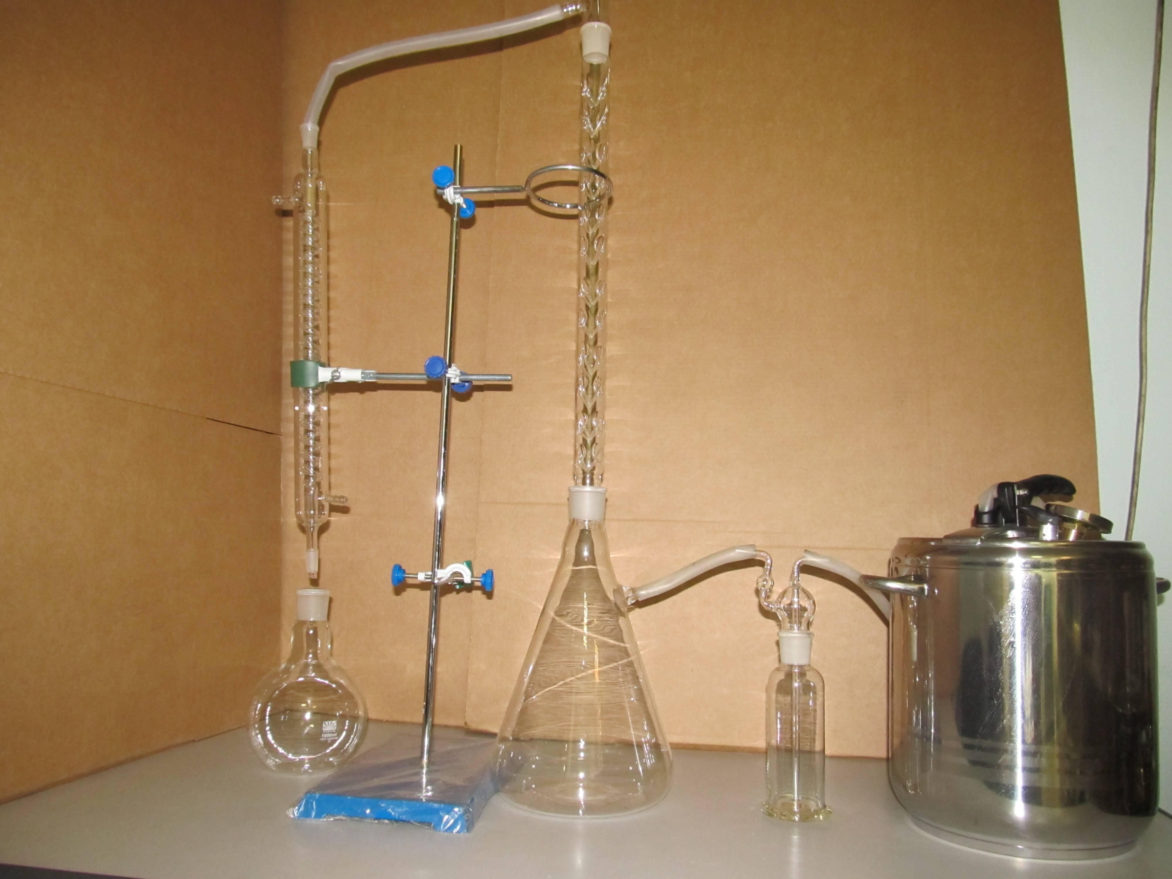 Дистиллятор стеклянный для самогона